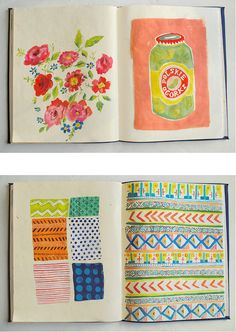 Drawing Doodles Sketchbooks Danielle Kroll - sketchbooks I am so going to start a sketchbook. This weekend. Collages, Collage Art, Art Journal Pages, Art Journals, Art Sketches, Art Drawings, Gouache, Artist Sketchbook, Sketchbook Inspiration