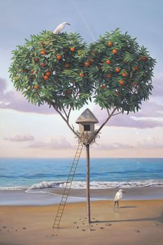 Magic Realism Paintings by Paul Bond - Pinned by Daniëlle Bergman Art - www.daniellebergman.com / www.pinterest.com/dbergmanart