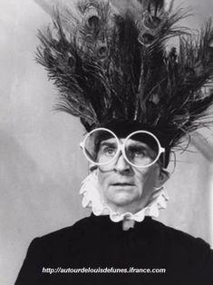 Louis de Funés, french comedy actor, watch L'Avare, L'Aile ou la cuisse, La soupe aux choux, Rabi Jacob, they're all great!