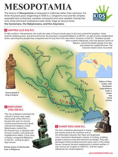 this free lesson sheet on Mesopotamia for kids detailing the Sumerians, the Babylonians, and the Assyrians – perfect for the classr. 6th Grade Social Studies, Social Studies Classroom, History Classroom, Teaching Social Studies, History Teachers, Teaching History, Ancient World History, World History Lessons, History For Kids