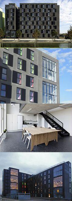 Robert Jacobsen Kollegiet, Ørestaden, Copenhagen, Denmark. Architect: Erik Møller Arkitekter AS