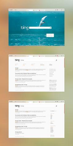 beige bing website, interesting  http://dribbble.com/shots/621598-Bing/attachments/51520