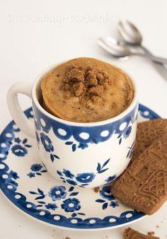 Klik hier voor het recept voor een overheerlijke speculaas mug cake (cake in een mok) en maak binnen enkele minuten deze mug cake in de magnetron!