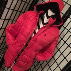 Polo Ralph Lauren puffer coat New with tags - color red - very soft - Jr large Polo by Ralph Lauren Jackets & Coats Puffers