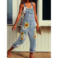 Plus Size Denim Jumpsuit, Jeans Jumpsuit, Petite Jumpsuit, Overalls Plus Size, Painted Jeans, Painted Clothes, Trend Fashion, Fashion Outfits, Denim Fashion