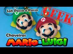Mario Bros Y Luigi, Mario Bros., Yoshi, Sah Biscuit, Cold Porcelain Tutorial, Mario Cake, Clay Videos, Clay Tutorials, Video Tutorials