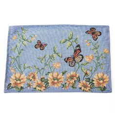 Bright Butterfly Floral Tapestry Placemat