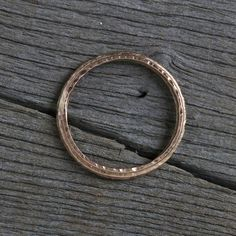 Ridged rose gold wedding band - Gently hammered and forged, ridged wedding band in rose gold. Rustic Wedding Bands, Gold Wedding Rings, Gold Ring, Rough Diamond, Gold Bands, Fine Jewelry, Jewellery, Hoop Earrings, Rose Gold