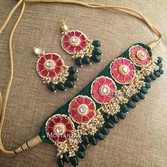 Never going wrong Thread Bangles, Thread Jewellery, Gold Jewellery Design, Fabric Jewelry, Fabric Necklace, Silver Jewellery, Indian Wedding Jewelry, Bridal Jewelry, Gota Patti Jewellery