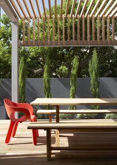 Wood + steel pergola.