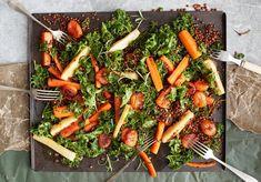 Lämpimän juuressalaatin purijaa ei palele. Reseptin löydät jutusta. Kuvat: Sanoma-arkisto Wow Products, Carrots, Vegetables, Blessed, Recipes, Food, Recipies, Essen, Carrot