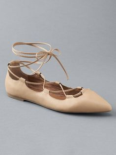 Lace-up ballet flats - Old Navy sells these in black and that would be my color preference. Size7.5