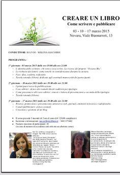 CREARE UN LIBRO: come scrivere e pubblicare, aperte le iscrizioni al corso  http://isa-voi.blogspot.it/2015/02/creare-un-libro-come-scrivere-e.html