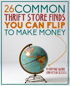 Resale Ideas Make Money - 20 common thrift store (or garage sale) finds you can flip to make money Money Making Ideas, Making Money, This is your chance to grab 100 great products WITH Master Resale Rights for mere pennies on the dollar! Thrift Store Shopping, Thrift Store Crafts, Thrift Store Finds, Shopping Hacks, Thrift Stores, Goodwill Finds, Thrift Store Decorating, Store Hacks, Online Thrift Store