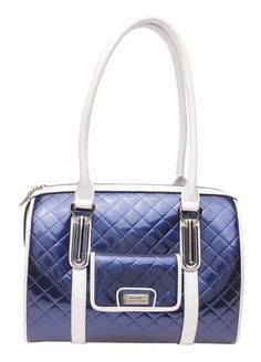 Serenade Leather Quilted Boxes Handbag Blue Fashion Hub Online Top