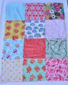 33x25 Baby Girl patchwork blanket by LoveyLake on Etsy