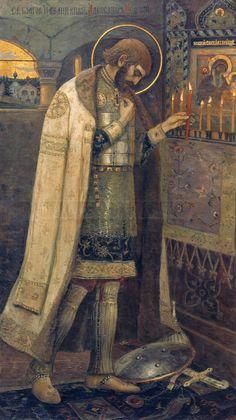 Нестеров М.. Благоверный князь Александр Невский. 1894-1895