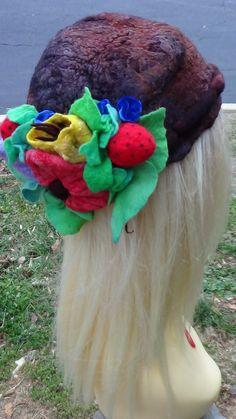 Sale - Wool fun hat, Knit hat, Fairy womens hats, Woolen hat, Felt summer hat, Hippie Unique hats, Festival wool hat, Boho crochet hat by rafaelart on Etsy