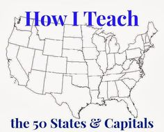 Learning USA Geography These State Trading Cards Will Make It Fun - Usa state map with capitals