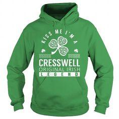 Awesome Tee Kiss Me CRESSWELL Last Name, Surname T-Shirt Shirts & Tees