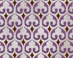 Moroccan Stencil Moorish Fleur de Lis Stencil for Wall Furniture and Craft Stenciling. $24.00, via Etsy.