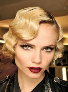 finger waves, pin curls - Google Search
