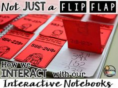 It seems as if interactive notebooks are all the rage right now.  Other related buzz words might include interactive journals, INB's, flip flaps, flippables…all pretty much the same thing.  An interactive notebook is a student-created notebook that involves activities that allow the child to interact with the skill, paper, and peers.  They can be an amazing instructional tool to help teach math, reading, science, and social studies topics. Help Teaching, Teaching Strategies, Teaching Math, Teaching Ideas, Preschool Teachers, Teacher Resources, Math Notebooks, Interactive Notebooks, Interactive Board