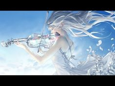 In this moment I'm not broken I am me I am free _____ Finally finished the first glass violin piece :) going to work more on my comics before finishing the other glass violin. Art Anime Fille, Anime Art Girl, Fantasy Kunst, Fantasy Art, Sword Art Online, Online Art, Yuumei Art, Cello Music, Me Anime