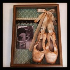 Pointe shoe shadow box - definitely to be done with my Cinderella pointe shoes once they die
