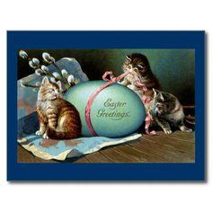 vintage français de cartes postales de pâques | Carte postale vintage de lapin de Pâques