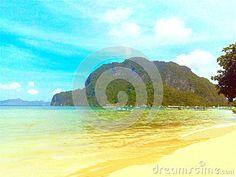 Corong Corong Beach El Nido with calm sea