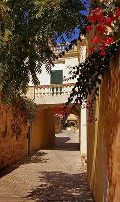 A narrow alley in Sliema, Malta (by albireo2006 on Flickr)