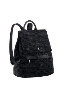 A modern and ultra chic crochet backpack with leather contrast. Features drawstring closure and zip pocket, it is a great everyday bag. Crochet Backpack Pattern, Free Crochet Bag, Crochet Handbags, Crochet Purses, Crochet Accessories, Bag Accessories, Backpack Bags, Leather Backpack, Black Backpack