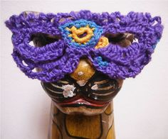 Purple Crochet Mask #yarn #glasses