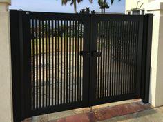 Gate Series — KunkelWorks Grill Gate Design, Steel Gate Design, Front Gate Design, House Gate Design, Gate Designs Modern, Modern Fence Design, Front Gates, Entrance Gates, Door Design Interior