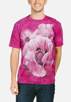 Poppies T-Shirt Modeled