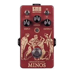 Conquerer of old lands, cursed with the unholy horned bastard son. The king has returned, filled with anger to deliver ancient tones of fuzz-history. Minos is a germanium based fuzz pedal derived from the legendary Tonebender MKII and the unique hard to find Superfuzz.The boomy sound of this circuit is something you love or hate. With the INPUT control you have the possibility to dial in the perfect amount of pregain and bass input. Counter-clockwise it gives you a gritty and cr...