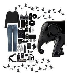 """""""Untitled #129"""" by lucky-luci ❤ liked on Polyvore featuring M.i.h Jeans, Monki, ELSE, Acne Studios, Miss KG, Ray-Ban, S'well, Sloane Stationery, Helmut Lang and Chanel"""