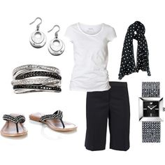 Black and White Polka Dots, created by vintagesparkles78 on Polyvore