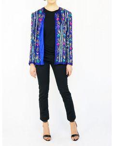 SIMON ELLIS - silk vintage blazer.