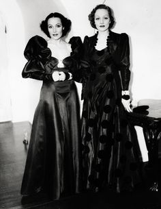 Dolores Del Rio and Marlene Dietrich at the Di Frasso party, 1935