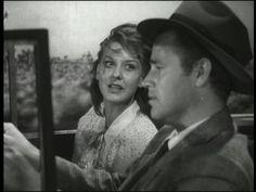 Ann Savage and Tom Neal in Edgar G. Ulmer's Detour (1945).