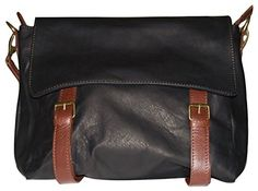 LaGaksta Worldly Italian Soft Leather Freestyle Bag/Black-Brown -- Want to know more, click on the image.