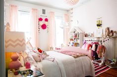 Pink and girly bedroom for a child
