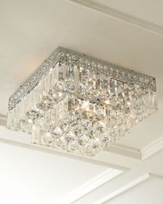 H4Y9H Five-Light Crystal Ceiling Fixture Master & Accessory Closet