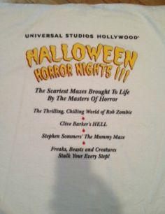 Halloween Horror Nights 3 (Hollywood, 1999) -staff shirt (03/03/2013)