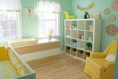 Aqua, White & Yellow Nursery