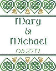 Celtic Cross Stitch Pattern/Celtic Wedding by oneofakindbabydesign