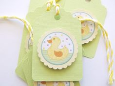 3D Gift Tags Birthday Tags Baby Shower Tags by GiftsNThisNThat, $4.25