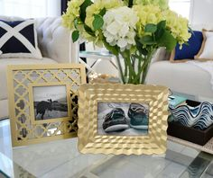 Hamptons Coastal Style Gold Concave Pyramid Photo Frame 4 x 6 inch Hamptons House, The Hamptons, Concave, Coastal Style, 6 Inches, Home Furniture, Bamboo, Christmas Tree, Throw Pillows